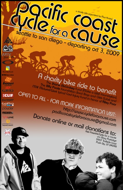 Cycle for a Cause Official Flyer